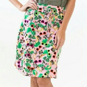 Agnes Dora Live In Skirt Palm Print Tropical 3X
